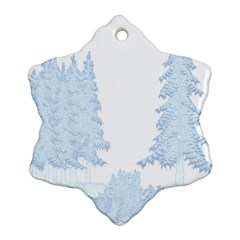 Winter Snow Trees Forest Ornament (snowflake)