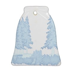 Winter Snow Trees Forest Bell Ornament (two Sides)