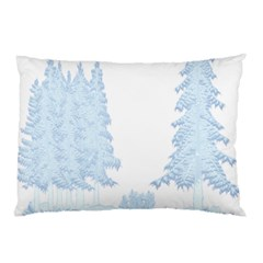 Winter Snow Trees Forest Pillow Case (two Sides)