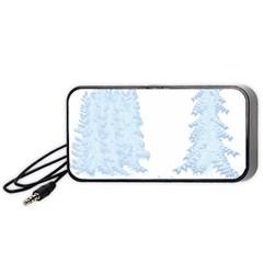 Winter Snow Trees Forest Portable Speaker (Black)
