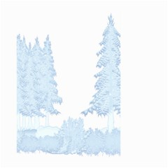 Winter Snow Trees Forest Large Garden Flag (two Sides)