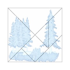 Winter Snow Trees Forest Acrylic Tangram Puzzle (6  X 6 )