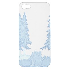 Winter Snow Trees Forest Apple Iphone 5 Hardshell Case
