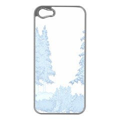 Winter Snow Trees Forest Apple iPhone 5 Case (Silver)