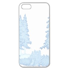 Winter Snow Trees Forest Apple Seamless Iphone 5 Case (clear)