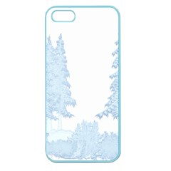Winter Snow Trees Forest Apple Seamless iPhone 5 Case (Color)