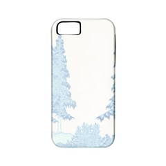 Winter Snow Trees Forest Apple iPhone 5 Classic Hardshell Case (PC+Silicone)