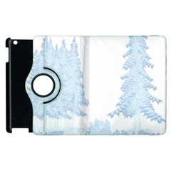 Winter Snow Trees Forest Apple Ipad 2 Flip 360 Case