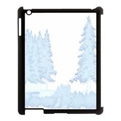 Winter Snow Trees Forest Apple Ipad 3/4 Case (black)