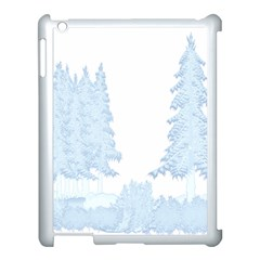 Winter Snow Trees Forest Apple Ipad 3/4 Case (white)