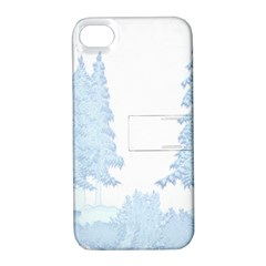 Winter Snow Trees Forest Apple Iphone 4/4s Hardshell Case With Stand
