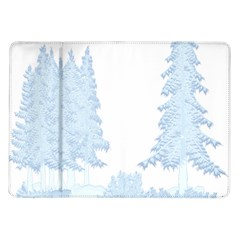 Winter Snow Trees Forest Samsung Galaxy Tab 10 1  P7500 Flip Case