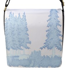 Winter Snow Trees Forest Flap Messenger Bag (S)