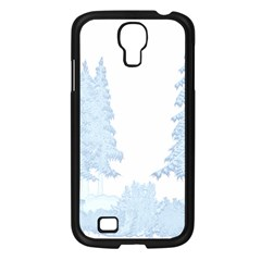 Winter Snow Trees Forest Samsung Galaxy S4 I9500/ I9505 Case (Black)