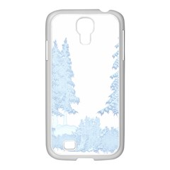 Winter Snow Trees Forest Samsung Galaxy S4 I9500/ I9505 Case (white)