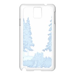 Winter Snow Trees Forest Samsung Galaxy Note 3 N9005 Case (White)