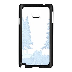 Winter Snow Trees Forest Samsung Galaxy Note 3 N9005 Case (black)