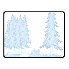 Winter Snow Trees Forest Double Sided Fleece Blanket (Small)