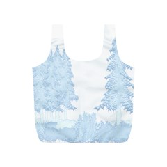 Winter Snow Trees Forest Full Print Recycle Bags (S)