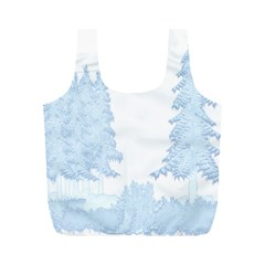 Winter Snow Trees Forest Full Print Recycle Bags (m)