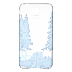 Winter Snow Trees Forest Samsung Galaxy S5 Back Case (white)