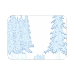 Winter Snow Trees Forest Double Sided Flano Blanket (Mini)