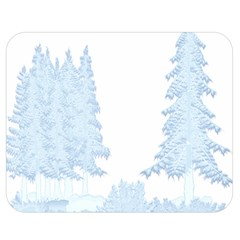 Winter Snow Trees Forest Double Sided Flano Blanket (Medium)