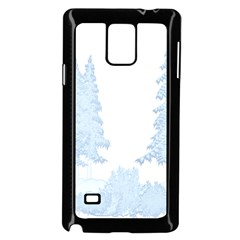 Winter Snow Trees Forest Samsung Galaxy Note 4 Case (Black)