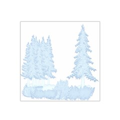 Winter Snow Trees Forest Satin Bandana Scarf