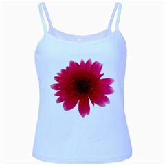 Flower Isolated Transparent Blossom Baby Blue Spaghetti Tank