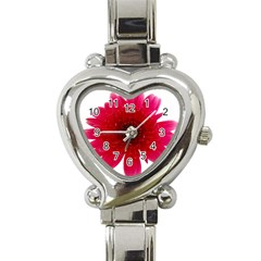 Flower Isolated Transparent Blossom Heart Italian Charm Watch