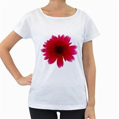 Flower Isolated Transparent Blossom Women s Loose-Fit T-Shirt (White)