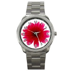 Flower Isolated Transparent Blossom Sport Metal Watch