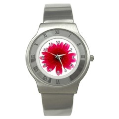Flower Isolated Transparent Blossom Stainless Steel Watch