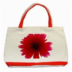 Flower Isolated Transparent Blossom Classic Tote Bag (Red)