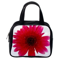 Flower Isolated Transparent Blossom Classic Handbags (one Side)