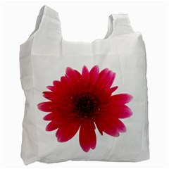 Flower Isolated Transparent Blossom Recycle Bag (one Side)