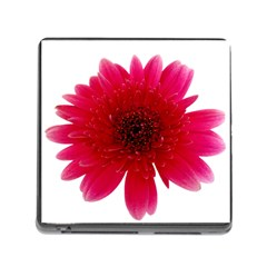 Flower Isolated Transparent Blossom Memory Card Reader (Square)