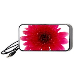 Flower Isolated Transparent Blossom Portable Speaker (Black)