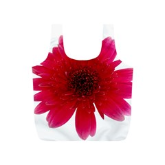 Flower Isolated Transparent Blossom Full Print Recycle Bags (S)