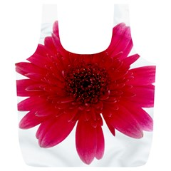 Flower Isolated Transparent Blossom Full Print Recycle Bags (l)