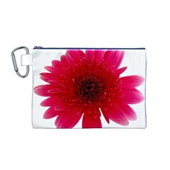 Flower Isolated Transparent Blossom Canvas Cosmetic Bag (m)