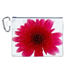 Flower Isolated Transparent Blossom Canvas Cosmetic Bag (L)