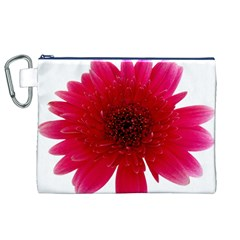 Flower Isolated Transparent Blossom Canvas Cosmetic Bag (xl)