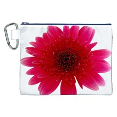 Flower Isolated Transparent Blossom Canvas Cosmetic Bag (xxl)