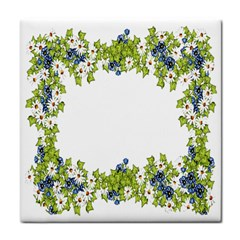 Birthday Card Flowers Daisies Ivy Tile Coasters