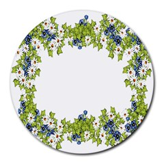 Birthday Card Flowers Daisies Ivy Round Mousepads