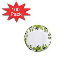 Birthday Card Flowers Daisies Ivy 1  Mini Magnets (100 Pack)