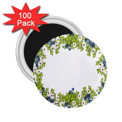 Birthday Card Flowers Daisies Ivy 2.25  Magnets (100 pack)