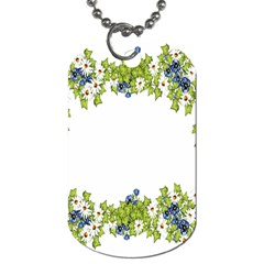 Birthday Card Flowers Daisies Ivy Dog Tag (two Sides)